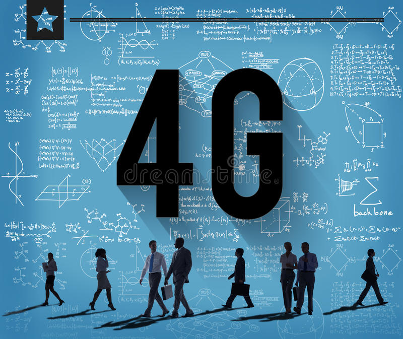 4G Connection Technology Internet Network Concept stock illustration