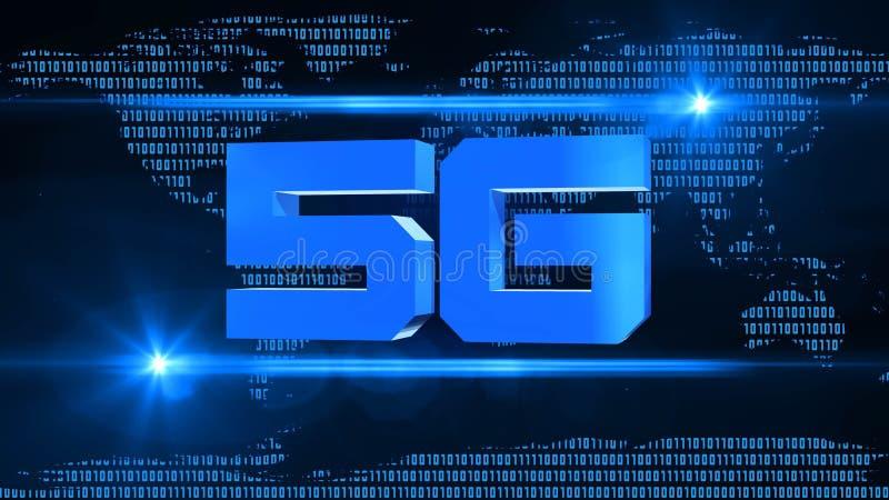 5G contexto creativo - red de alta velocidad de la red global - concepto del negocio stock de ilustración