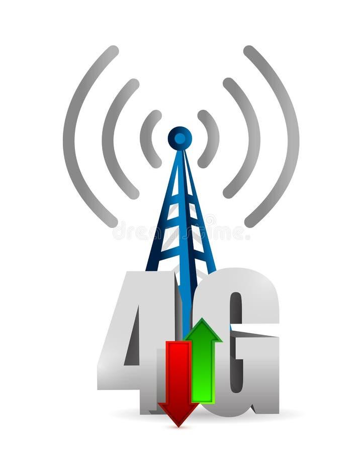 4g de illustratieontwerp van de torenverbinding royalty-vrije illustratie