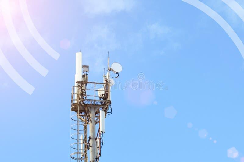 5G en slimme GSM van het de mobiele telefoon radionetwerk van 4G antenne met exemplaarruimte royalty-vrije stock afbeeldingen