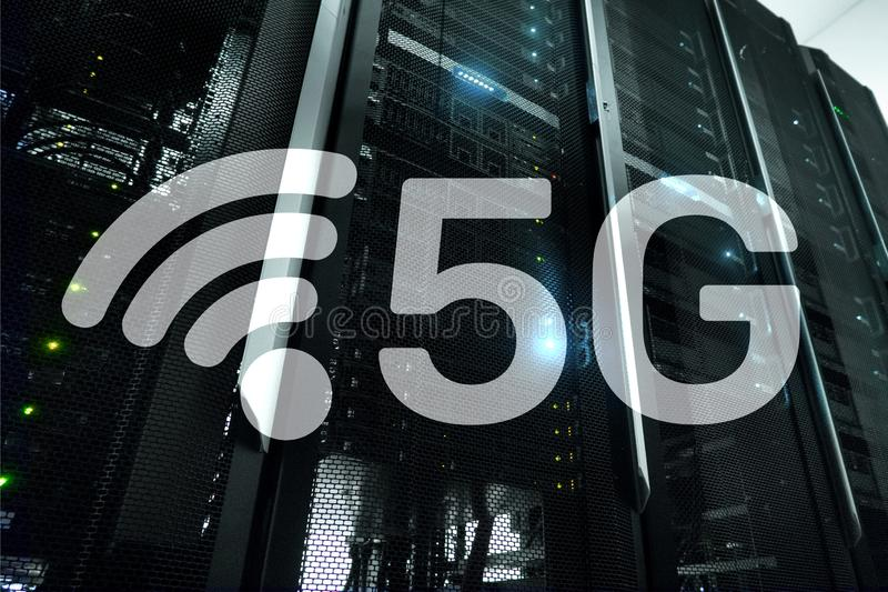 5G Fast Wireless internet connection Communication Mobile Technology concept . 5G Fast Wireless internet connection Communication Mobile Technology concept stock illustration