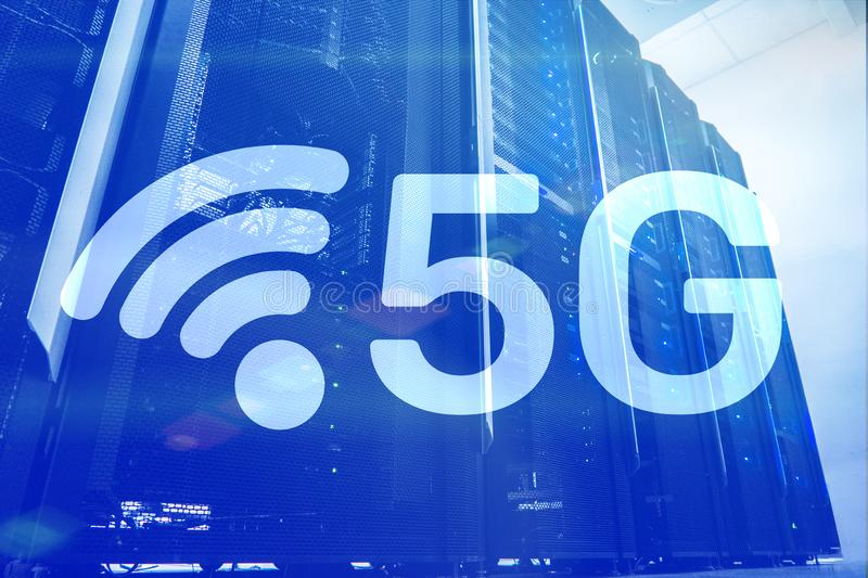 5G Fast Wireless internet connection Communication Mobile Technology concept. 5G Fast Wireless internet connection Communication Mobile Technology concept stock photos