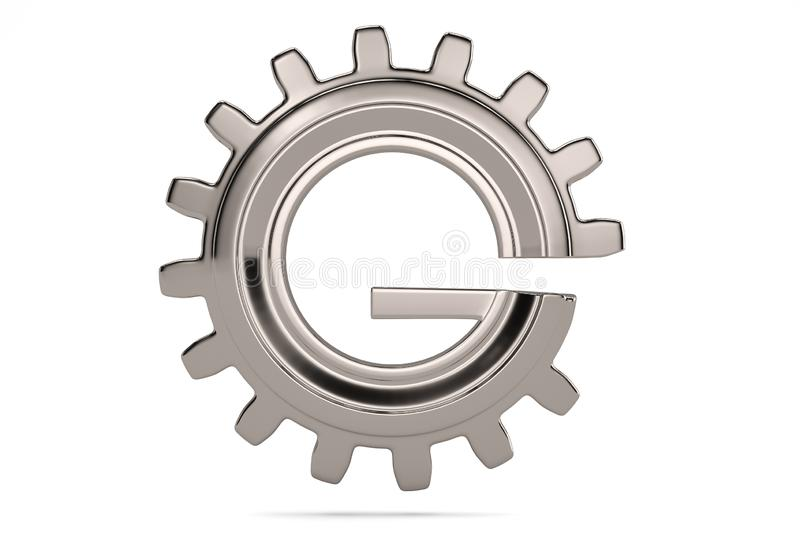 G gear 3D logo on white background. 3D illustration. G gear 3D logo on white background. 3D illustration vector illustration