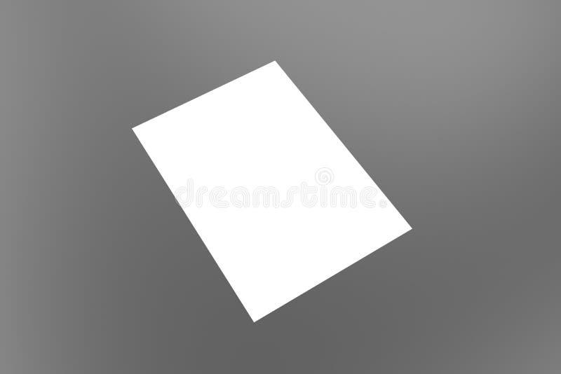 3g geven het document van a4 terug a3 a2 a5 a6 a1 Boek Catalogus Lege Witte Dekking templateMock omhoog stock illustratie
