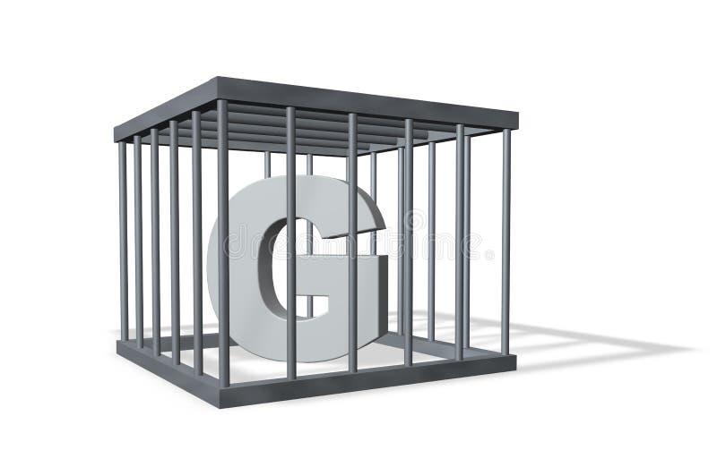 G grande en cárcel libre illustration