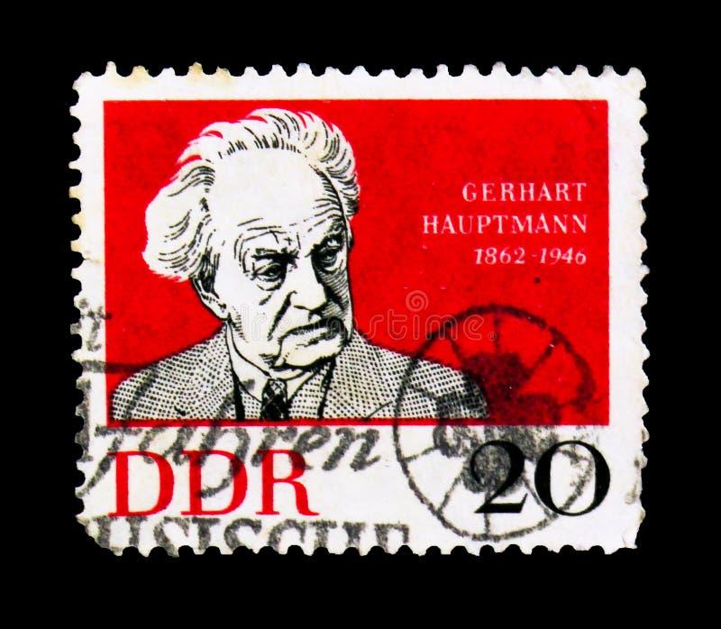 G Hauptmann, Nobel-Laureaat, circa 1962 stock fotografie