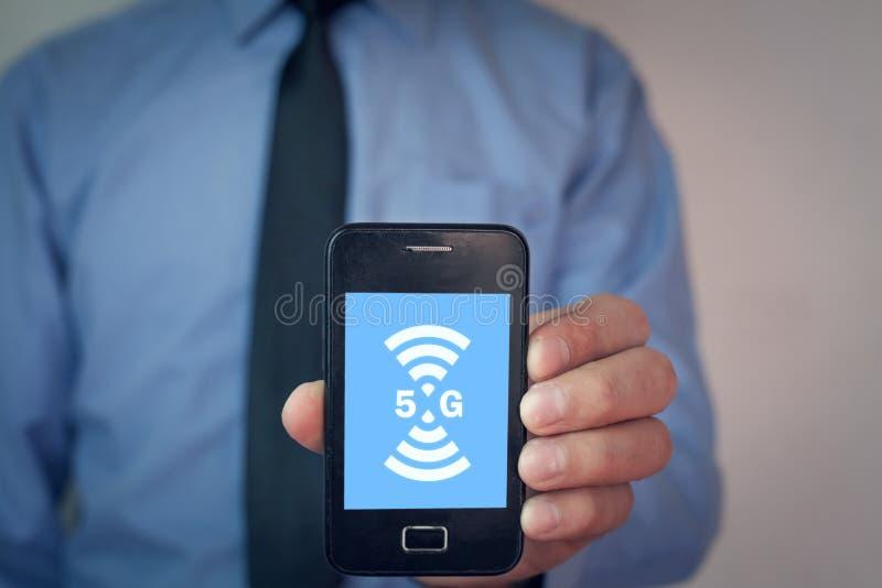 5G het concept van Internet en van het netwerk Internet stock afbeeldingen