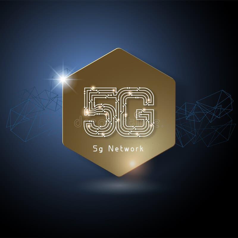 5G het Embleem van de kunstmatige intelligentiebrief stock illustratie