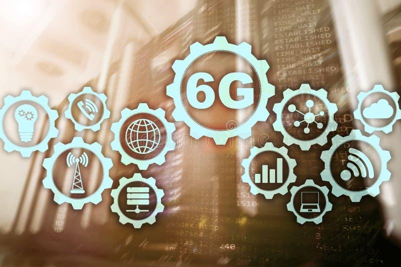 6G Hoge snelheids Mobiele Draadloze Technologie Toekomstige Communicatie Snelle Technologie Het concept van de netwerkverbinding royalty-vrije illustratie