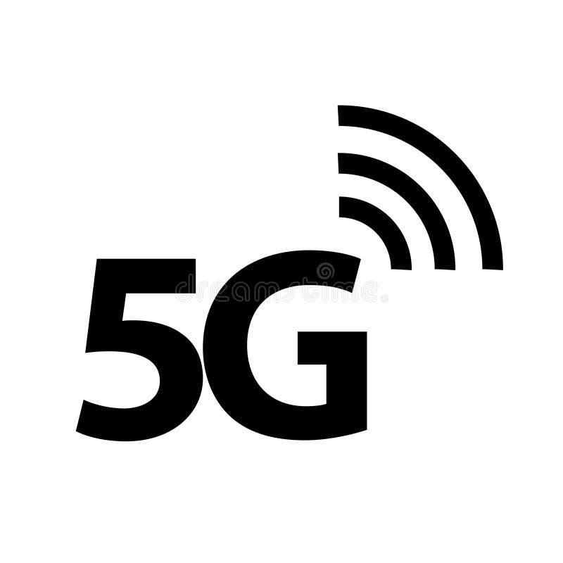 5G ikona, Wektorowa ilustracja royalty ilustracja