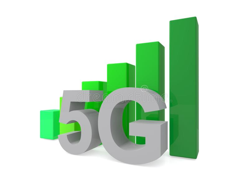 5G illustrerat tecken arkivbilder