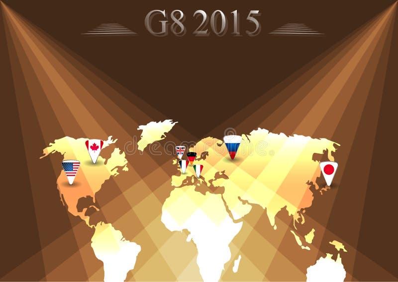 G8 infographic top stock illustratie