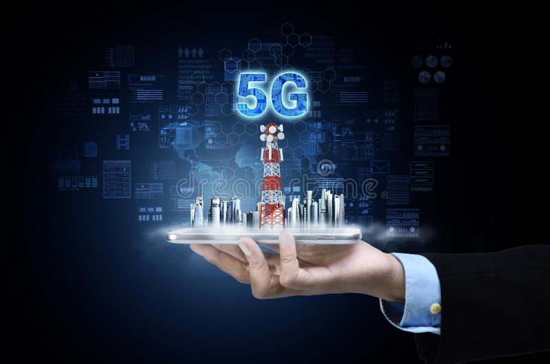 5G Internet Conceptual image royalty free stock photography