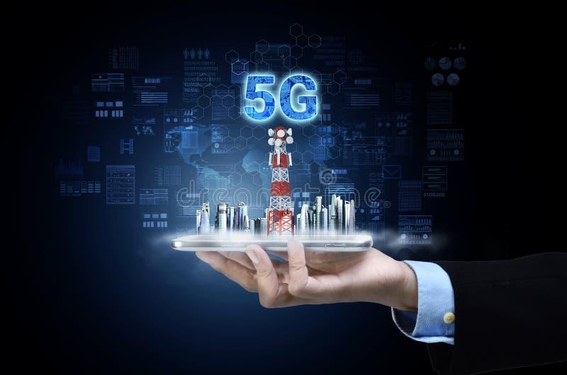 5G Internet Conceptueel image royalty-vrije stock fotografie
