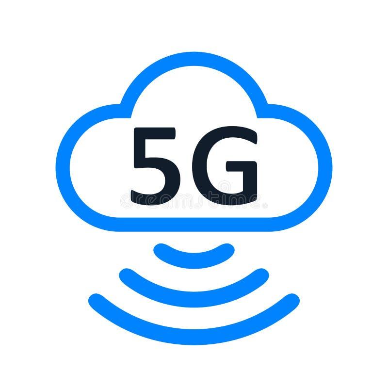 5 G internet standart icon – vector royalty free illustration