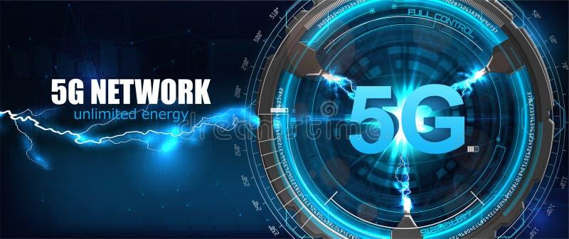 5G interneta wifi nowy bezprzewodowy związek royalty ilustracja