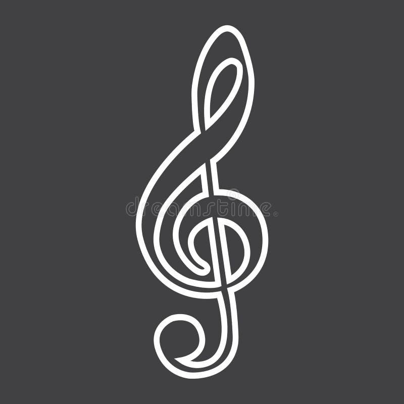 G-klavlinje symbol, musik och instrument stock illustrationer