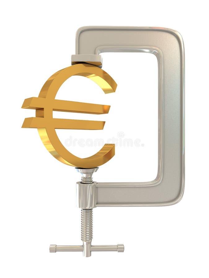G klem en Euro teken stock illustratie