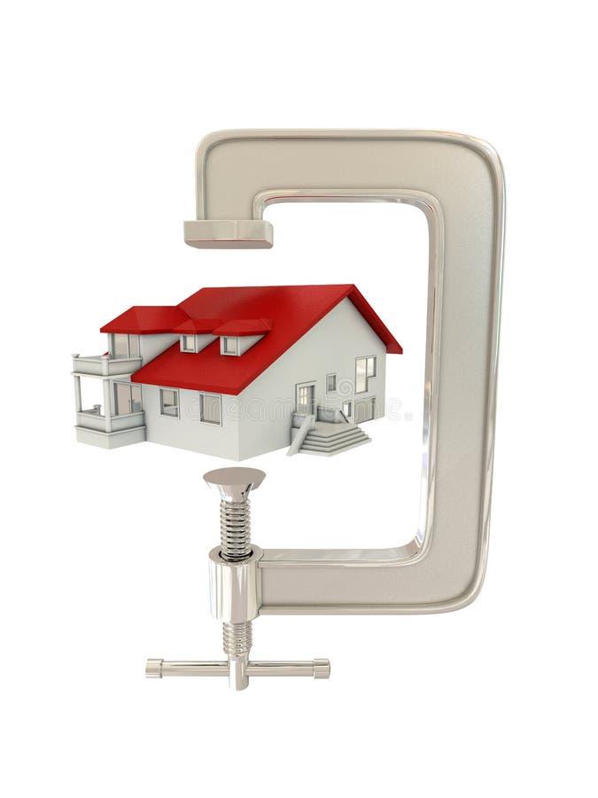 G klem en huis vector illustratie