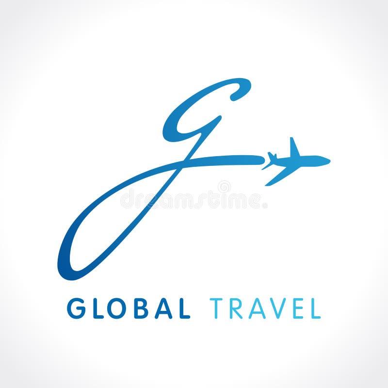 G komarnicy podróży firmy logo ilustracja wektor