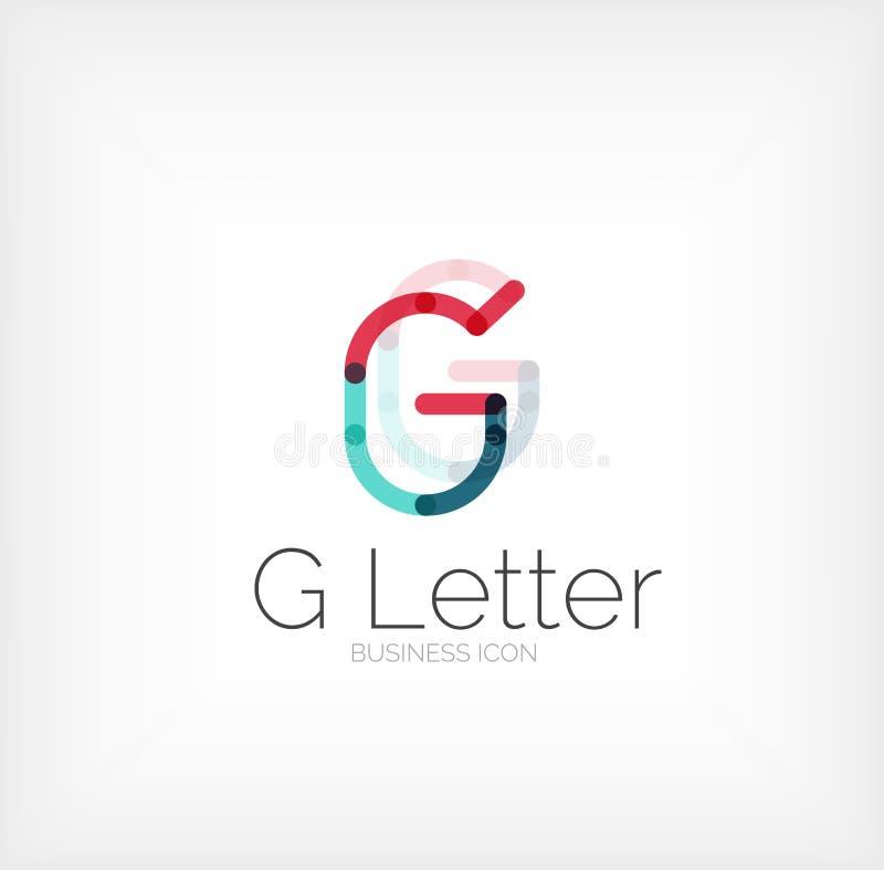 G listu logo, minimalny kreskowy projekt ilustracja wektor