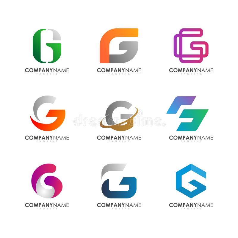 G loga projekt obrazy royalty free