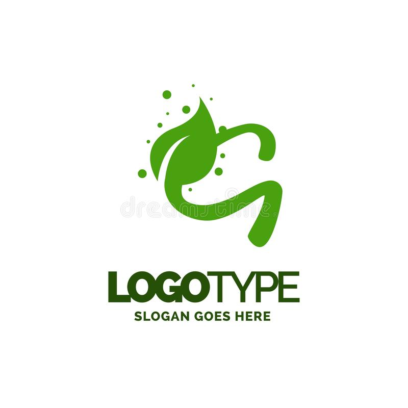G logo with Leaf Element. Nature Leaf logo designs, Simple leaf. Logo symbol. Natural, eco food. Organic food badges in vector. Vector logos. Natural logos with royalty free illustration
