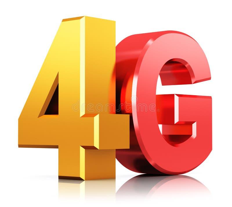 4G LTE technologii bezprzewodowej logo ilustracja wektor