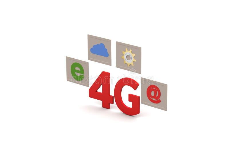 4G met Internet-verbinding stock illustratie