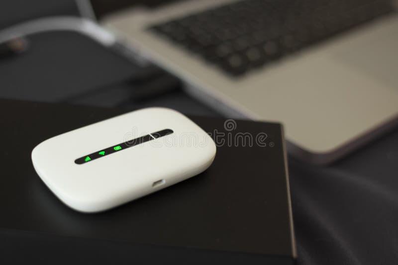 3G Mini Wifi Router royalty free stock photos