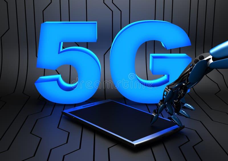 5G - mobilnätverk för femte utveckling vektor illustrationer
