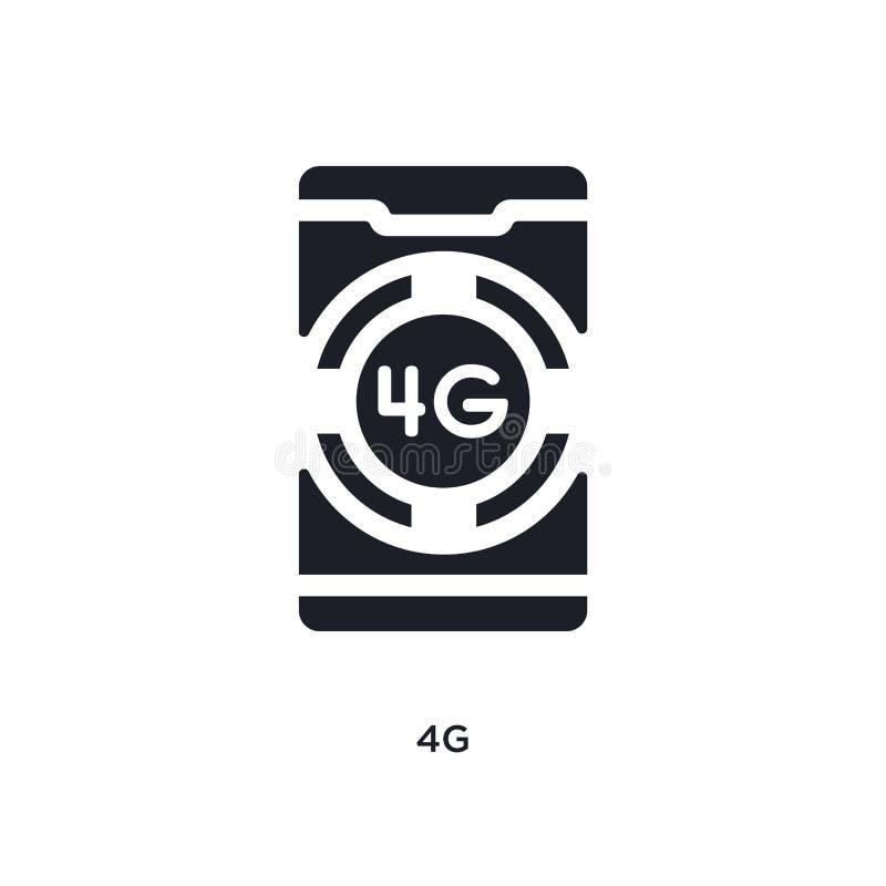4g negro aisló el icono del vector ejemplo simple del elemento de iconos móviles del vector del concepto del app diseño editable  libre illustration