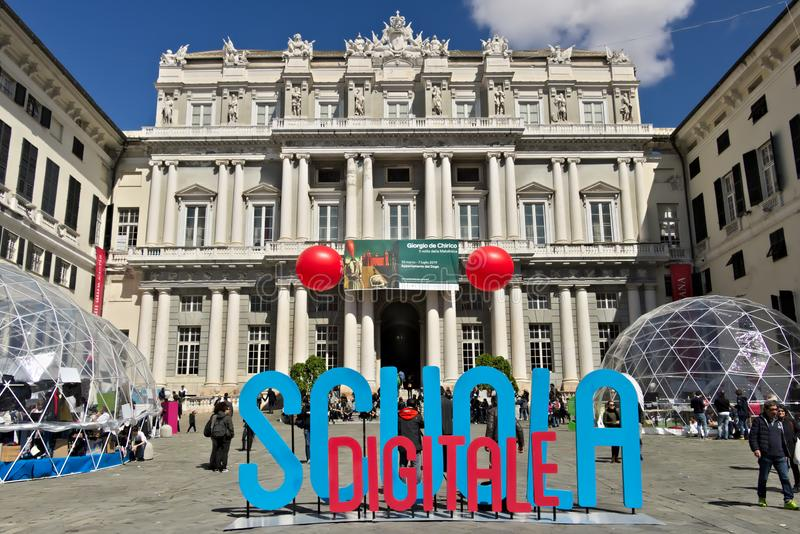 g?nes Palazzo Ducale avec l'événement d'école de Digital photo libre de droits