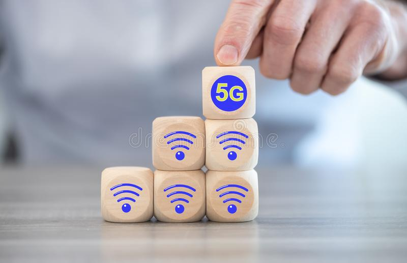 5G network concept royalty free stock images