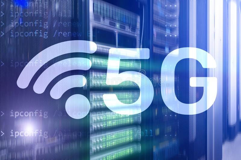 5G Network, 5G internet Connection Concept in digital background. Smart communication network concept royalty free stock photo