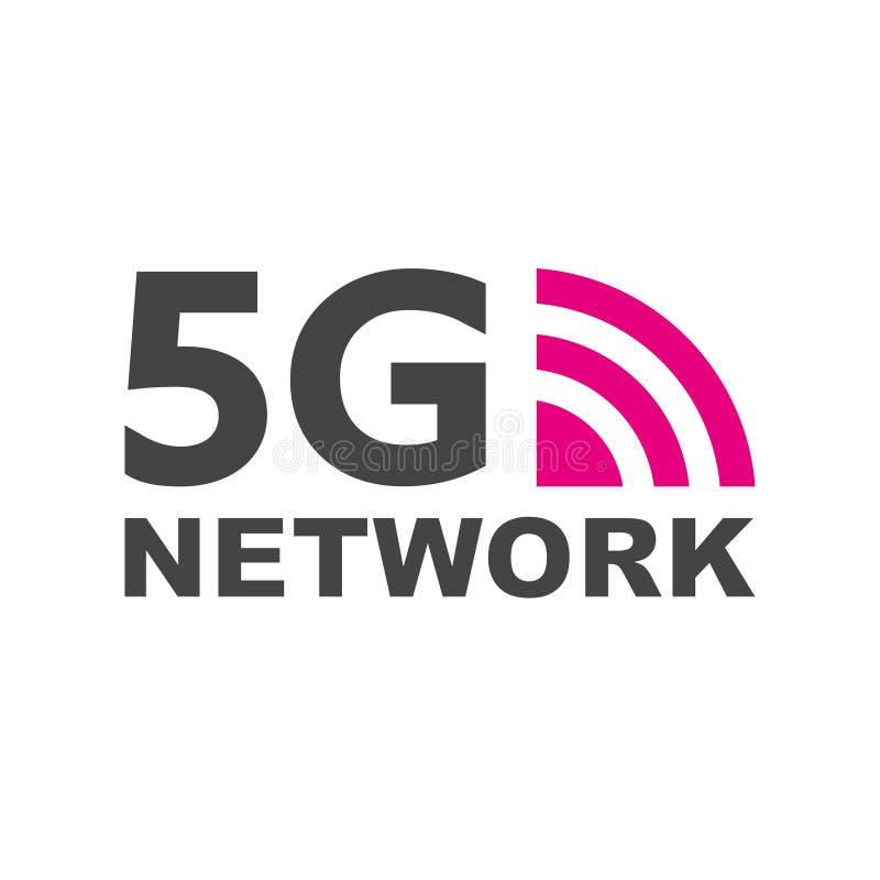 5G nieuwe draadloze Internet-wifiverbinding Vector het netwerkteken 5g van het technologiepictogram Vijfde innovatieve generatie  royalty-vrije illustratie