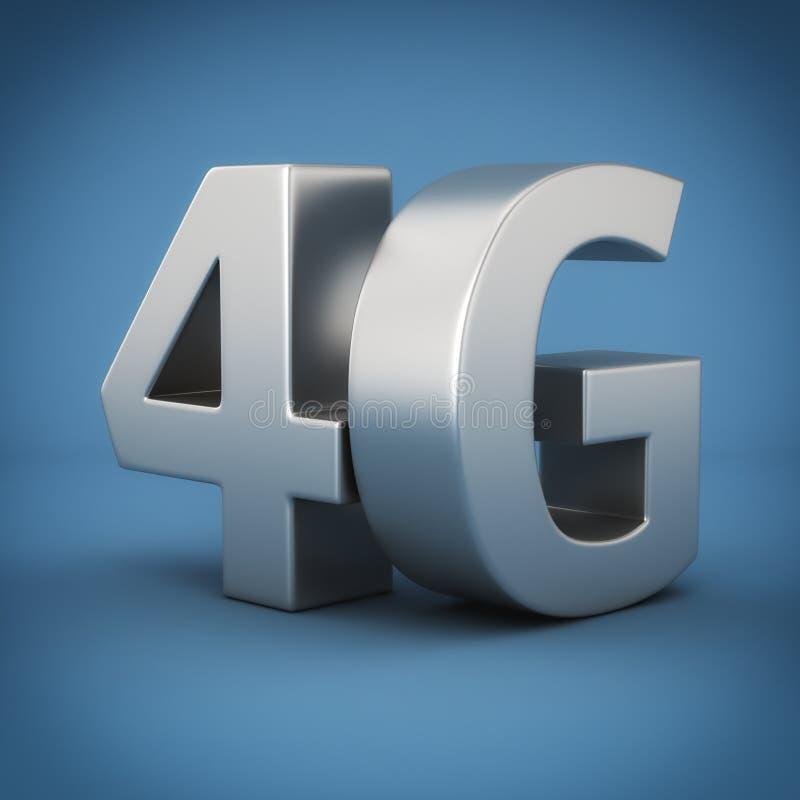4G no azul ilustração royalty free