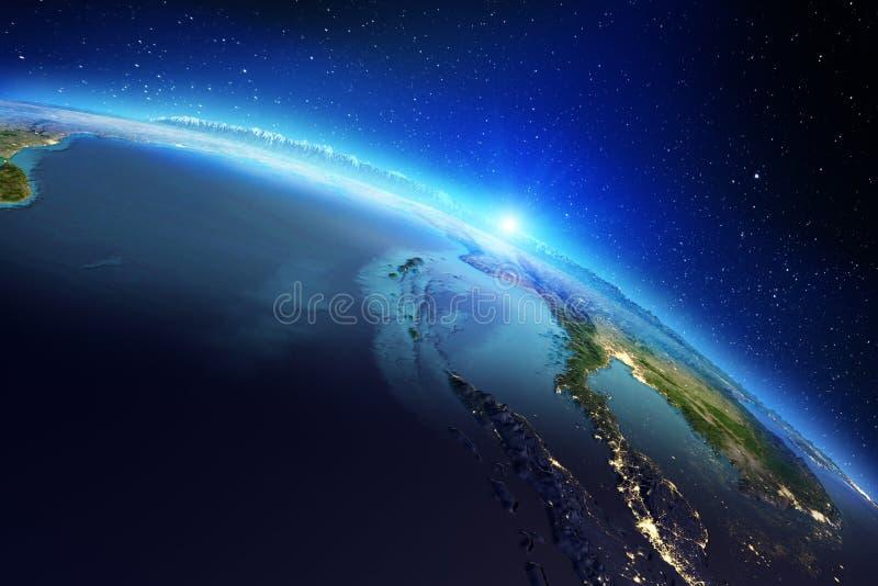 G?ographie de la terre de plan?te rendu 3d illustration libre de droits