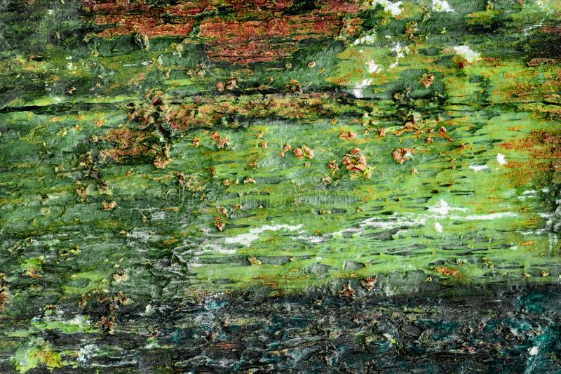 G?ologie color?e de texture de roche rouge verte pour la texture et la conception de fond photos stock
