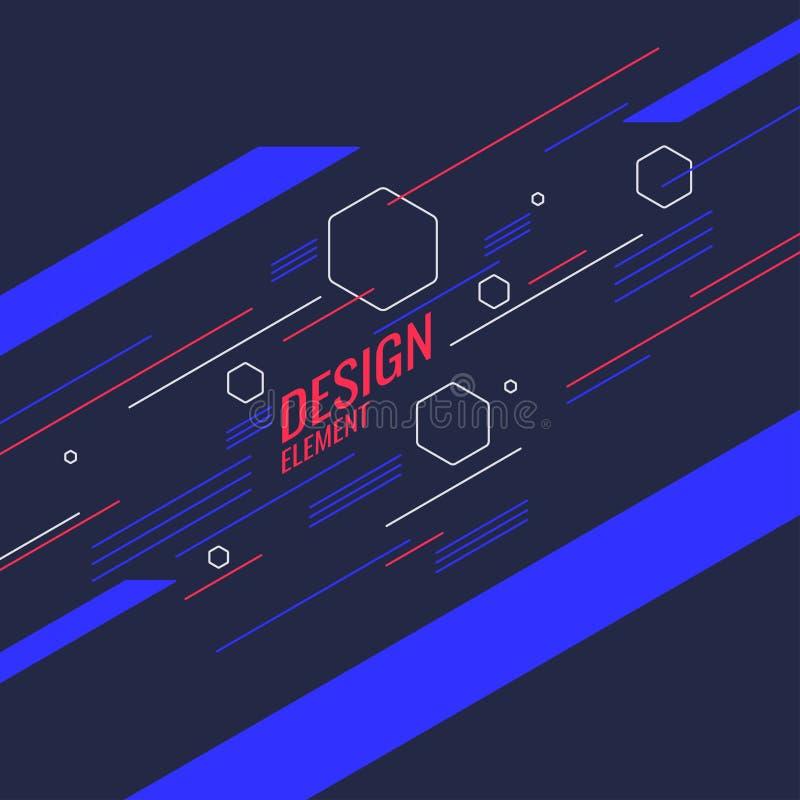 G?om?trique abstrait Affiche de conception avec les figures plates illustration de vecteur