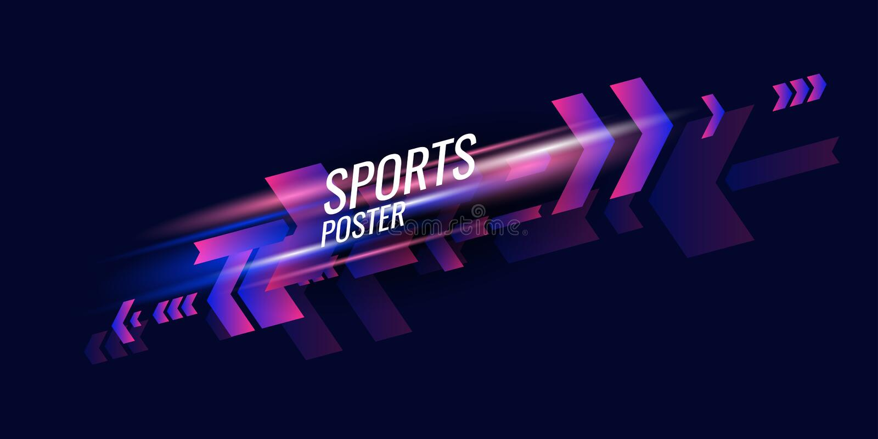 G?om?trique abstrait Affiche de sports avec les figures géométriques illustration de vecteur