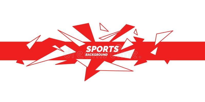 G?om?trique abstrait Affiche de sports avec les figures g?om?triques illustration libre de droits