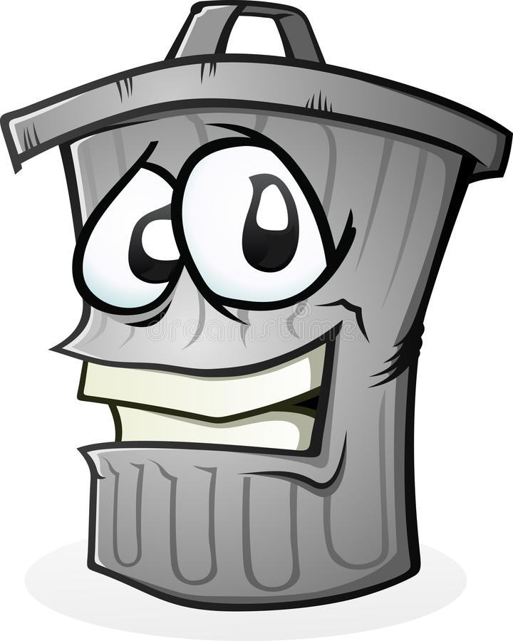 göra ren kan att le avfall stock illustrationer