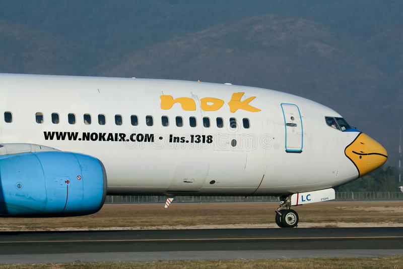 G-OXLC Boeing 737-800 NokAir obraz stock