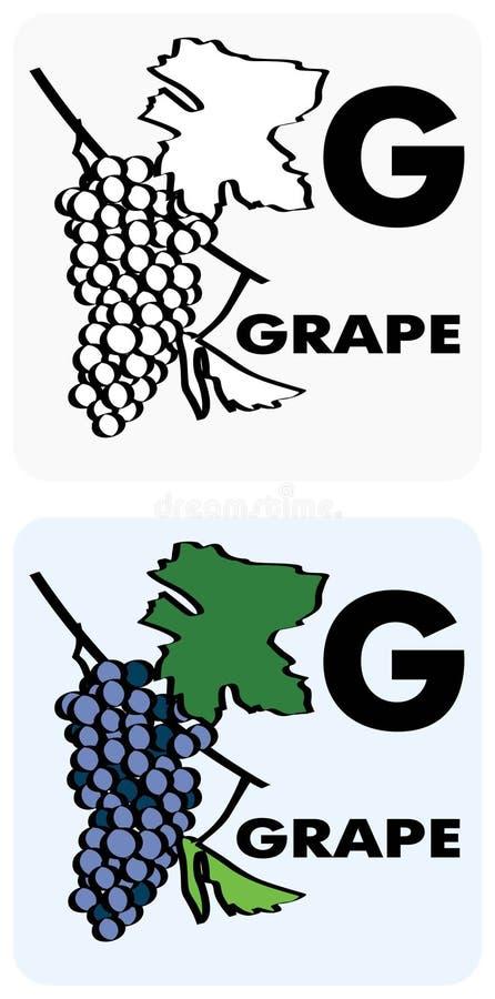 G per l'uva royalty illustrazione gratis