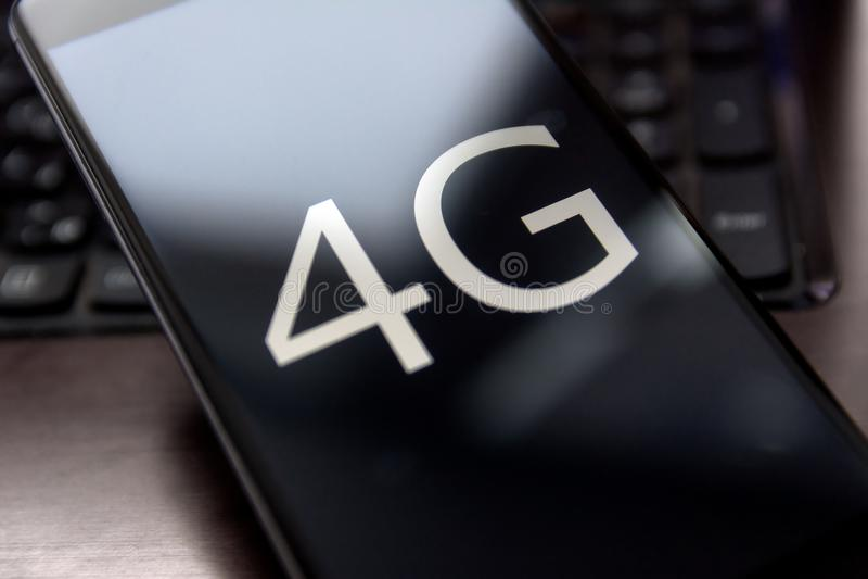 4g phone stock image
