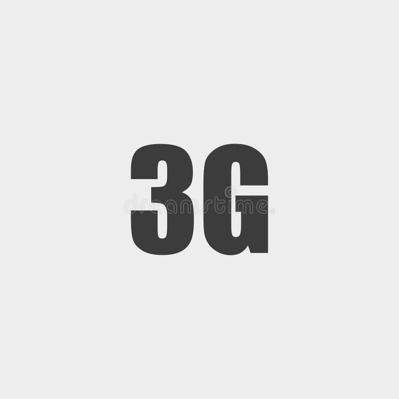 3G pictogram in een vlak ontwerp in zwarte kleur Vector illustratie EPS10 royalty-vrije illustratie