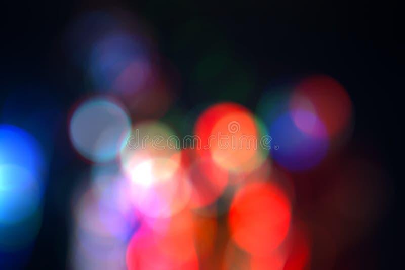 G?r suddig den abstrakta bokehbakgrundsbest?ndsdelen f?r samkopieringen, f?rgrikt defocused ljus royaltyfri foto