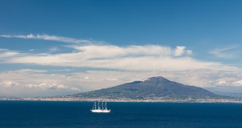 G?ra Vesuvius, Naples, W?ochy obrazy royalty free