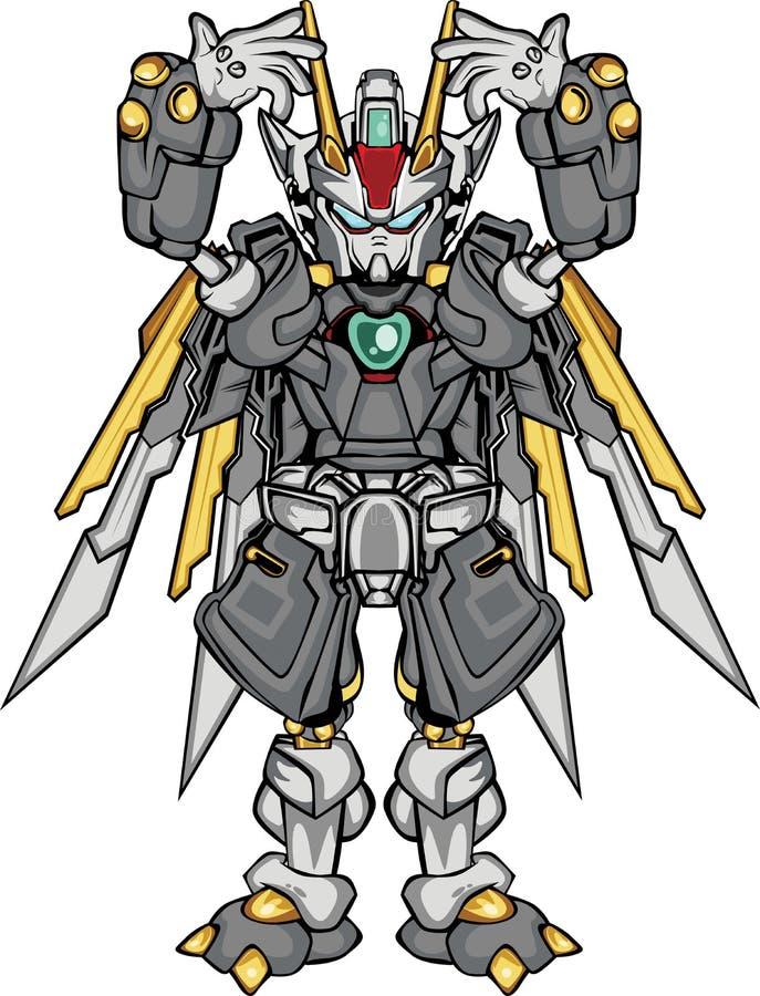 G robo body part vector illustration